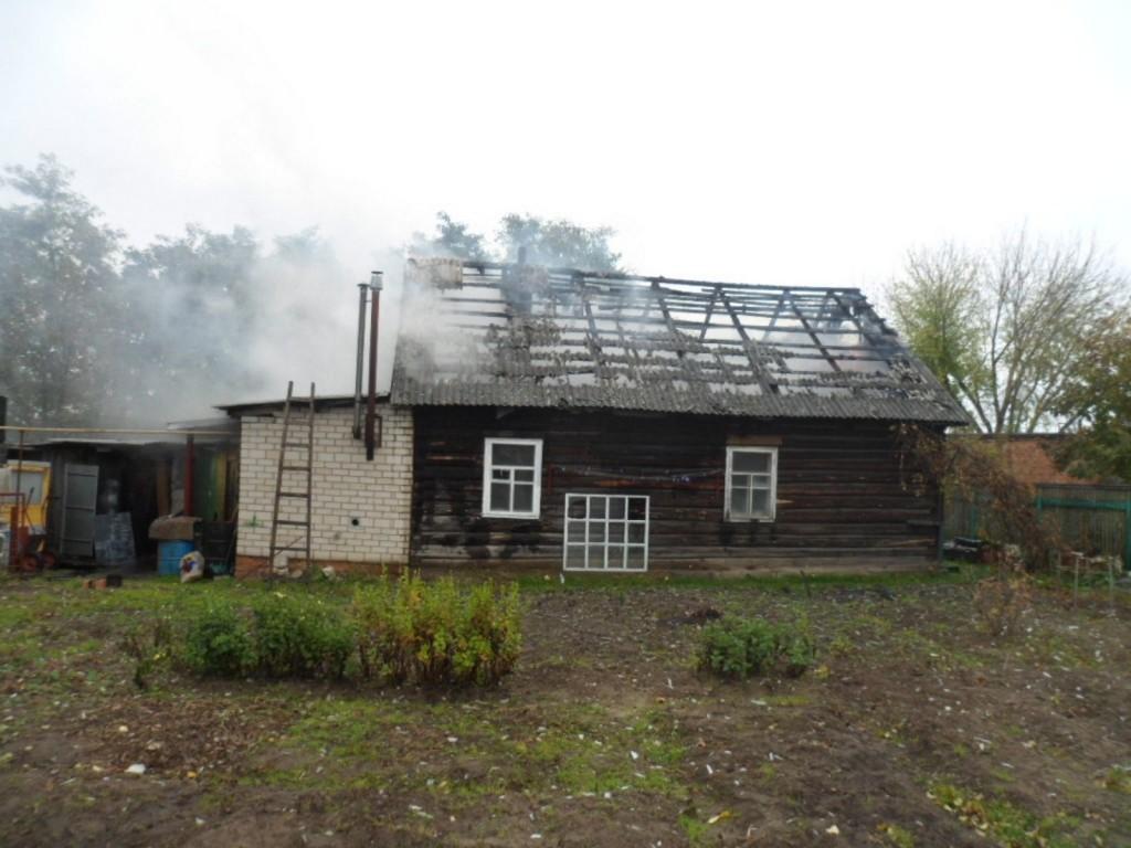 Пожар в Жлобине: сгорел жилой дом